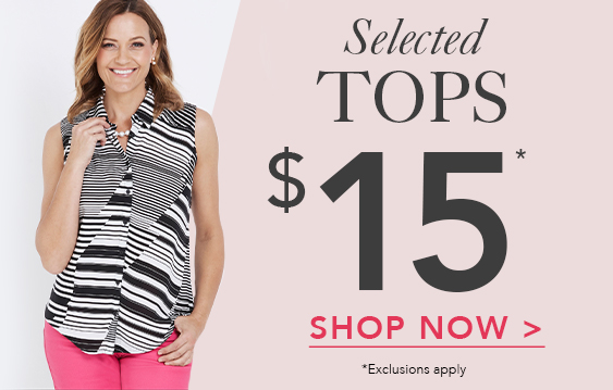 $15 Selected Tops