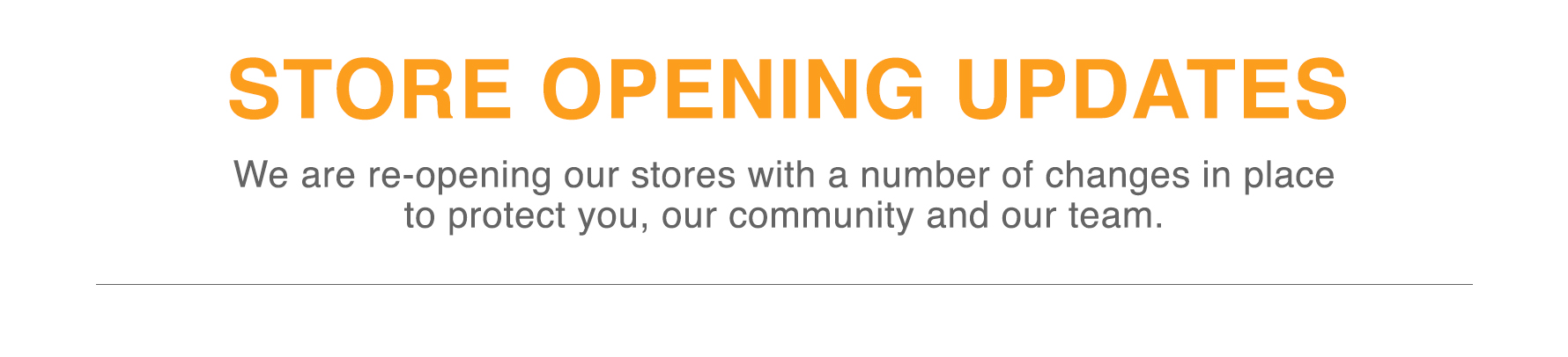 Stores Currently open