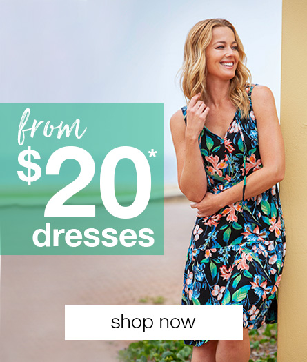 All Women's Dresses $20 - selected styles