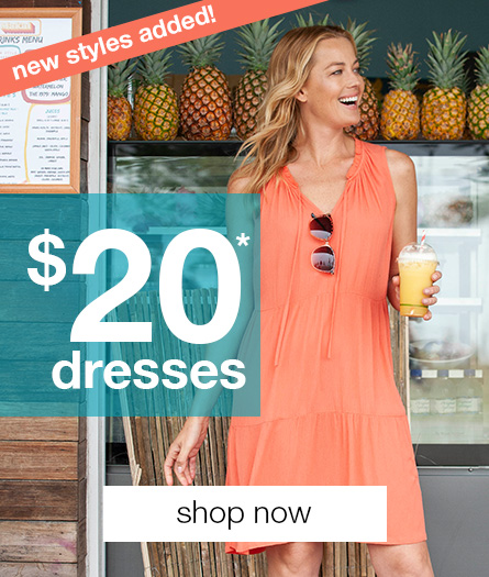 All Women's Dresses $20