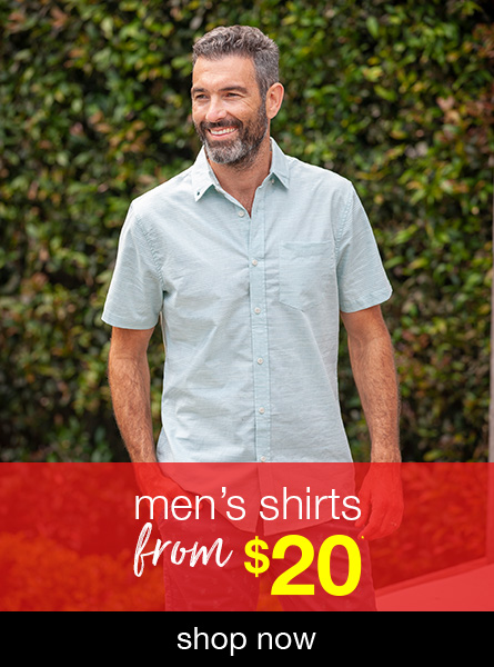 All Men's Shirts from $20