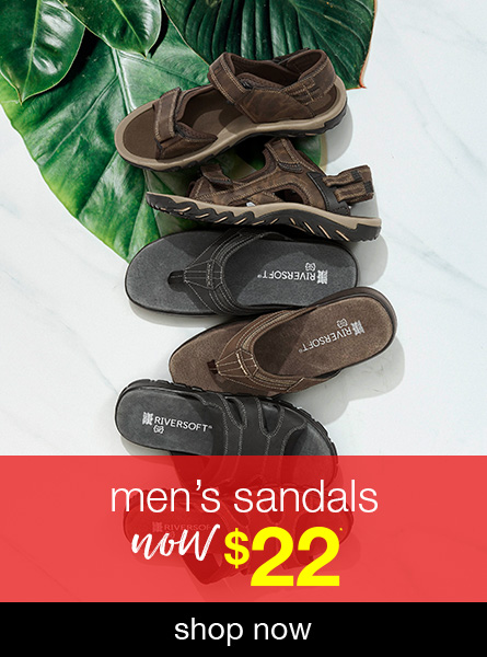 All Men's Sandals now $22
