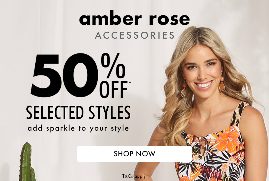 Shop Amber Rose 50% Off Selected Styles*